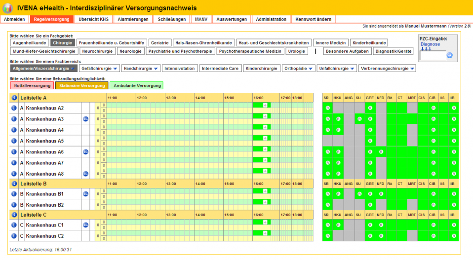 Screenshot IVENA eHealth